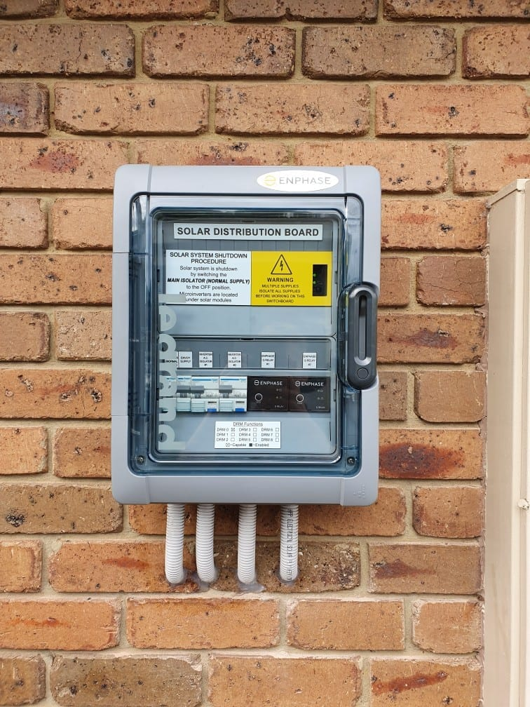 enhpase inverter on the wall