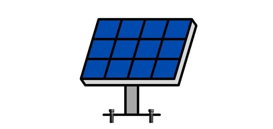 solar panels are fixed at their location