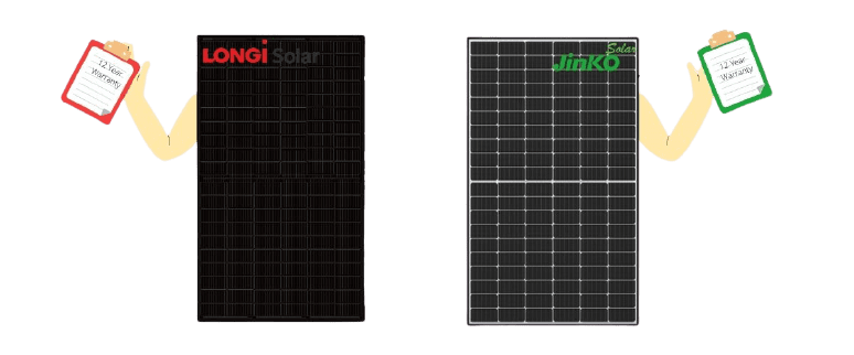 longi and jinko solar panels have long lasting warranties