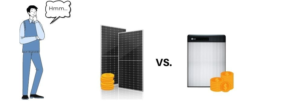 you can only choose either the solar battery rebate, or the solar panel rebate. You cannot choose both.
