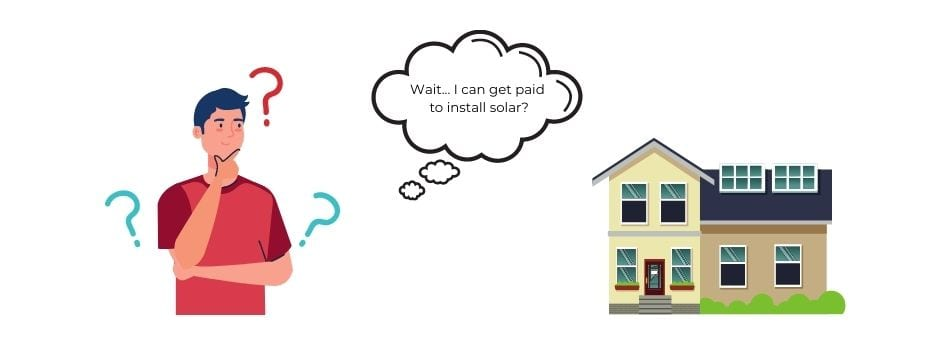 queensland homeowner realising they can claim the solar rebate in queensland